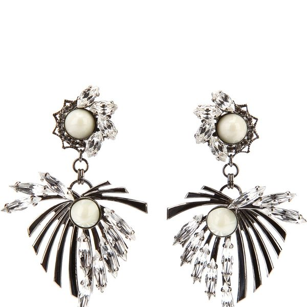 Anton Heunis  Anton Heunis Leaf Motif Earrings