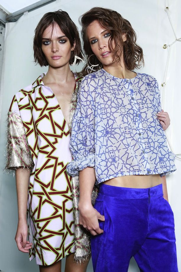 LFW Backstage: Topshop Unique S/S 2014