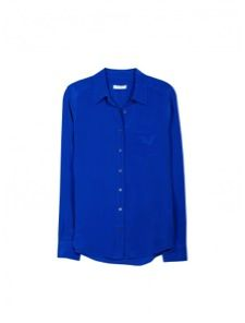 Equipment  Brett Long Sleeve Silk Shirt