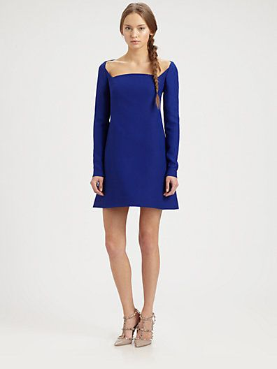 Valentino Valentino Square-Neck Dress