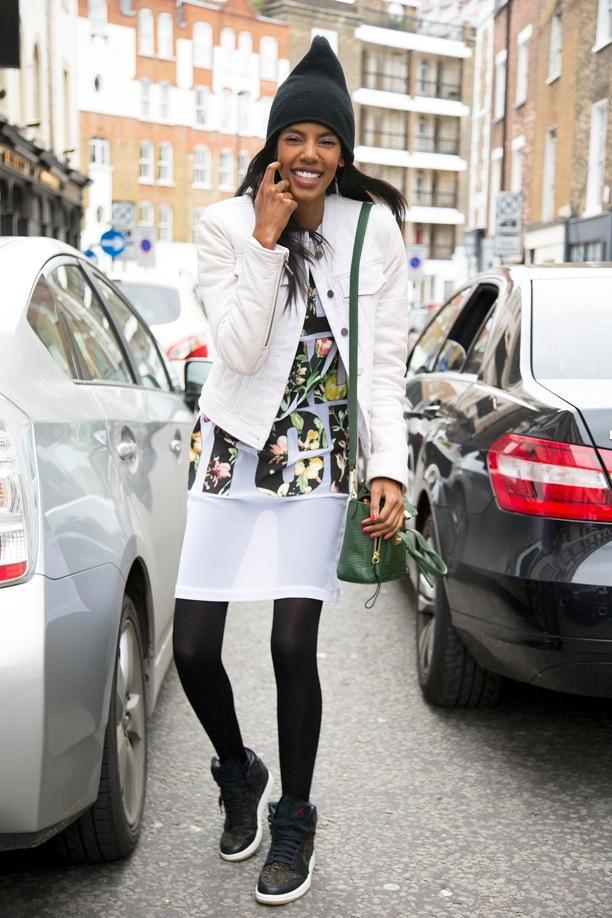 LFW Street Style: Florals + Kicks