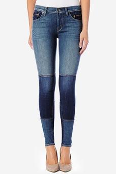 Hudson  Newton Patchwork Super Skinny Jeans