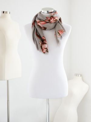 New York & Company  Eva Mendes Collection Vintage Rose Scarf
