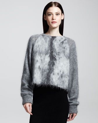 Alexander Wang  Furry Spine Pullover Sweater