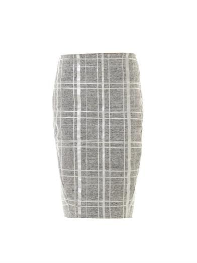 Elizabeth and James  Layla Metallic Plaid Skirt