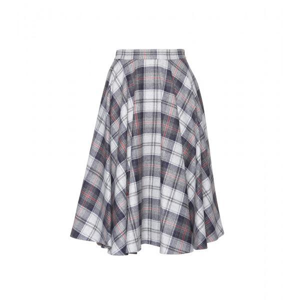 MSGM  Tartan Felt Skirt