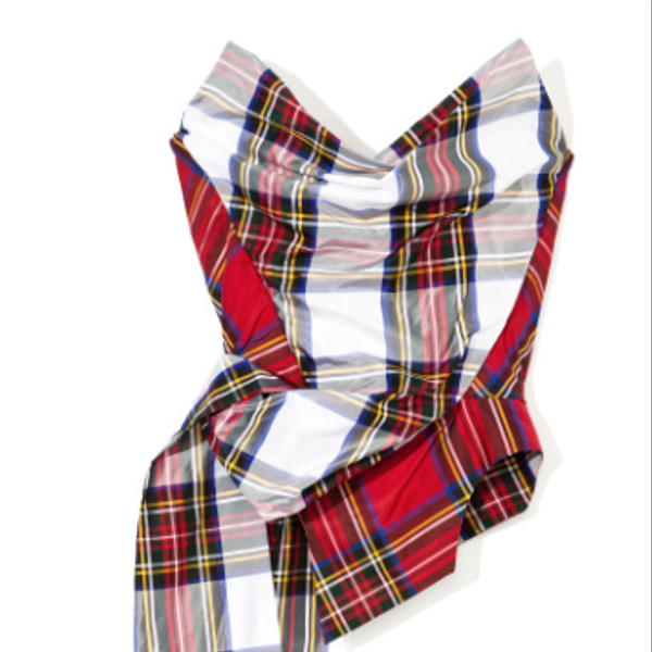 Vivienne Westwood  Dual-Tartan Corset with Train