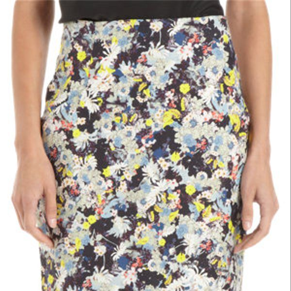 Erdem  Floral Print Pencil Skirt