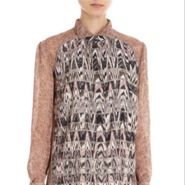 O'2nd Delphi Print Blouse