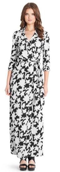Diane von Furstenberg  Abigail Vintage Silk Jersey Maxi Wrap Dress