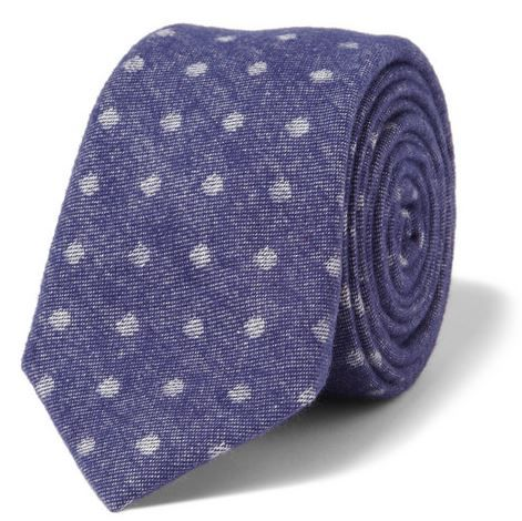 Alexander Olch  Printed Brushed Cotton-Twill Tie