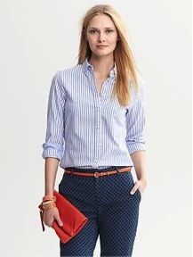 Banana Republic Banana Republic Striped Button-Down Shirt