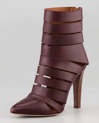 Rebecca Minkoff Debra  Rebecca Minkoff Debra Cutout Leather Bootie