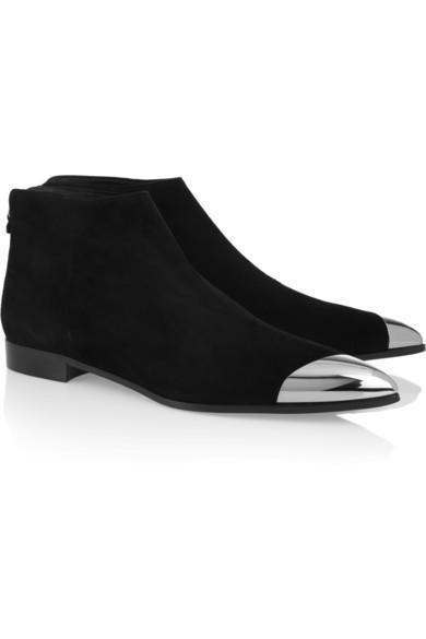 Miu Miu  Miu Miu Metal-Tipped Suede Ankle Boots