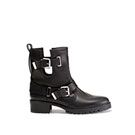 Zara  Zara Leather Ankle Boot with Straps