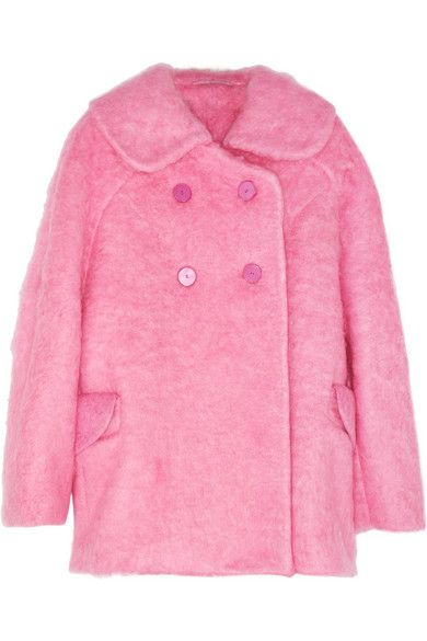 Carven  Oversized Brushed-Felt Coat