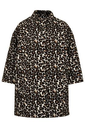 Topshop Animal Print Coat