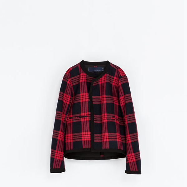 Zara  Checked Studio Jacket