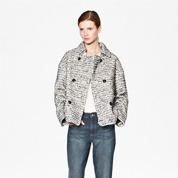 French Connection  Electric Checked Boucle Coat