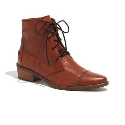 Madewell  The Fielder Lace Up Boot