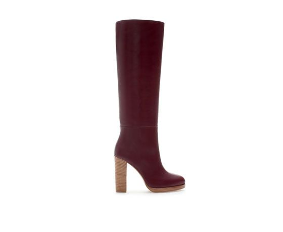 Zara  High Heel Leather Boot