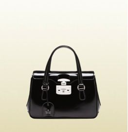 Gucci Gucci Lady Lock Leather Top Handle Bag