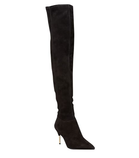 B Brian Atwood Mazzarine High Heel Pointed Toe Over The Knee Boots
