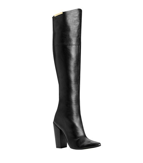 Calvin Klein Averie Over-The-Knee Convertible Leather Boots