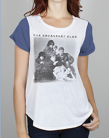 Junk Food Clothing Co. The Breakfast Club Coffeehouse Color Block Tee Shirt