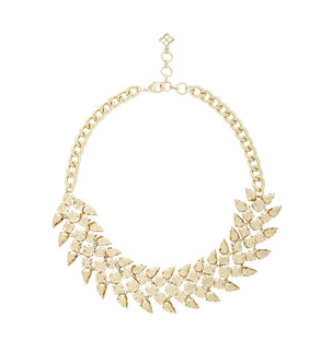 BCBGMAXAZRIA Metal Chevron Stone Necklace