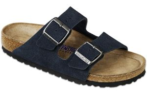 Birkenstock   Birkenstock Arizona Soft Footbead Suede Sandal