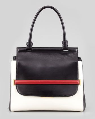 The Row   The Row Small Colorblock Top-Handle Satchel