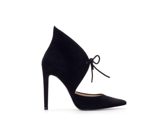 Zara   Zara Leather Ankle Boot Style Court Shoe