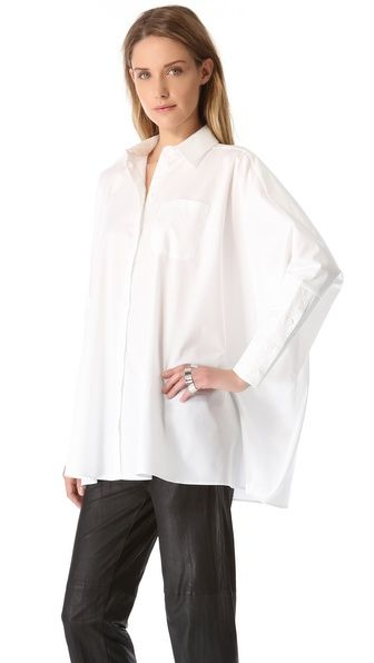 MM6 Maison Martin Margiela  MM6 Maison Martin Margiela Dolman Button Up Blouse