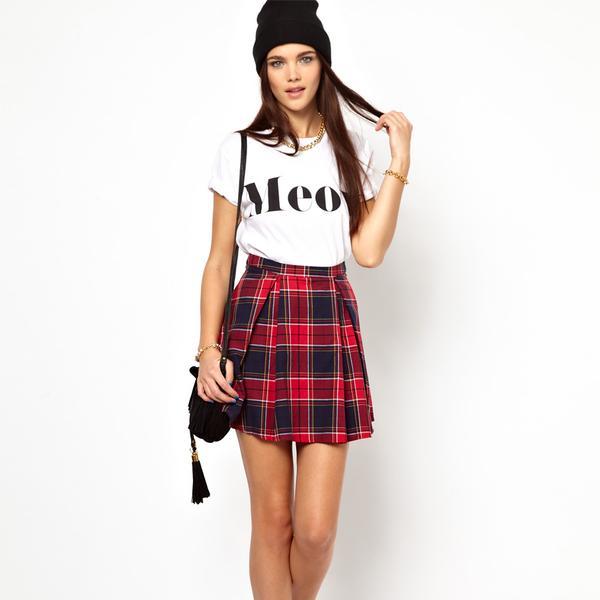 Asos   Asos Glamorous Plaid Skirt