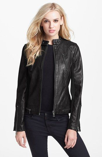 Sam Edelman  Sam Edelman Faux Leather Moto Jacket