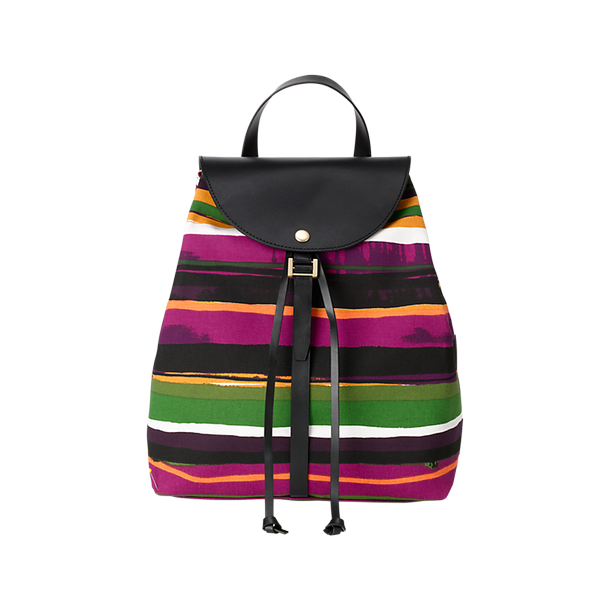 Kate Spade Saturday Half-Circle Backpack in Sunset Stripe