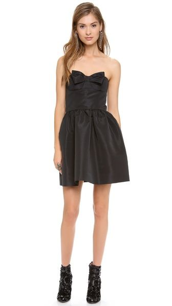 RED Valentino   Strapless Bow Mini Dress