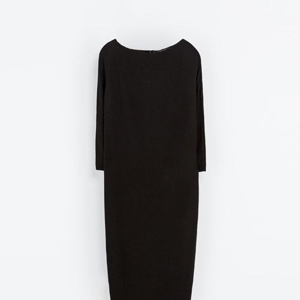 Zara  Funnel Collar Dress