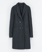 Zara  Zara Masculine Double Breasted Coat