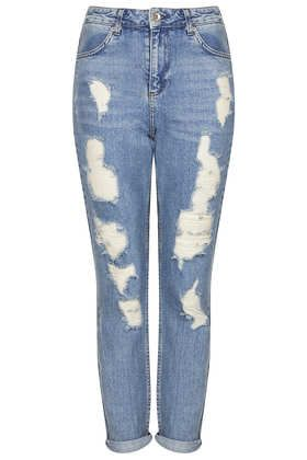 Topshop Moto Ripped High-Waisted Jeans
