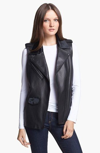 Veda  Veda Genuine Calf Hair and Leather Vest
