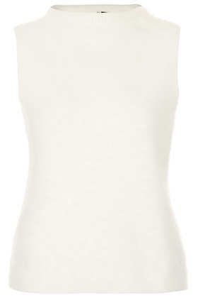 Topshop  Topshop Knitted Fluffy Sleeveless Top