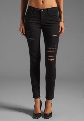 Frame Denim  Le Colour Rip Jeans