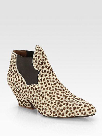 Acne Studios  Alma Leopard-Print Pony Hair Ankle Boots