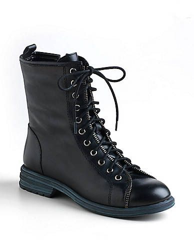 BCBGeneration  Emilio Leather Lace Up Boots