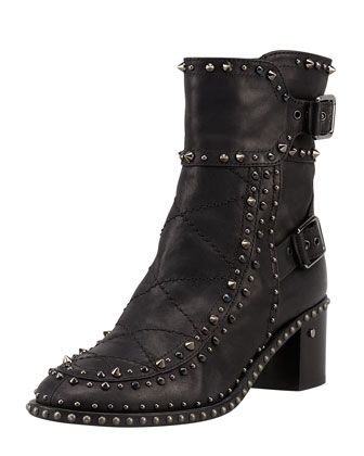 Laurence Dacade  Badely Studded Double-Buckle Boots