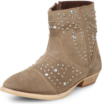 Dorothy Perkins  Taupe Suede Embellished Boots