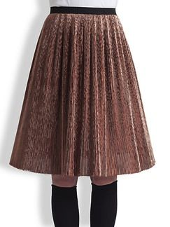 Marni  Marni Metallic Plissè Pleated Skirt