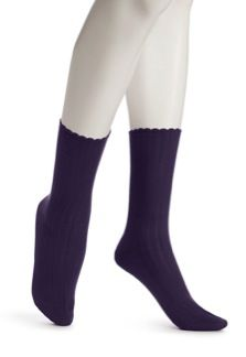 Hue  Hue Scalloped Pointell Socks